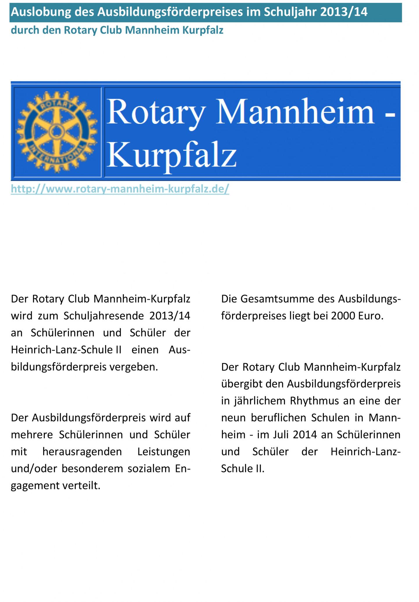 Ausbildungsfoerderpreis Rotaryclub